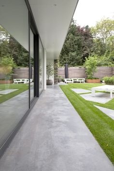 Outdoor Paving, Outdoor Landscaping, Backyard Patio, Outdoor Gardens, Patio Edging, Two Story House Design, Concrete Patio Designs, Terrace Floor, Landscape Design Plans