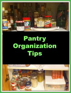 Some ideas for the home, like these pantry organization tips.
