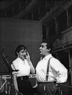 Opera singers Maria Callas and Giuseppe DiStefano