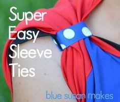 blueSusan makes: Soccer Mom: Super Easy Sleeve Tie Tutorial