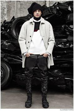 Alexander Wang Goes Dark for Fall/Winter 2014 Collection image Alexander Wang Fall Winter 2014 Mens Collection 001