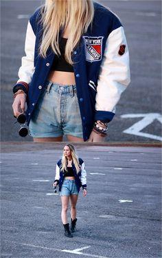 New York Jacket, Levi's Shorts