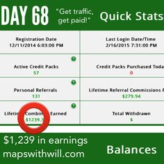Day 68 - more money! If you would like more money join my team! :) www.mapswithwill.com