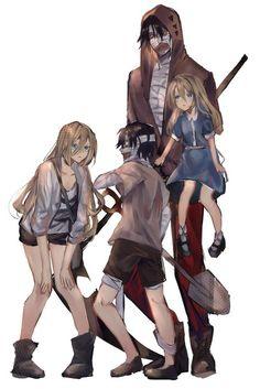 Satsuriku no Tenshi Isaac Foster and Rachel Gardner Angel Of Death, Death Aesthetic, Belle Cosplay, Familia Anime, Satsuriku No Tenshi, Rpg Horror Games, Angel Beats, Anime Angel, Anime Ships