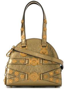 de6ac0bb3e21 Shop Versace studded Medusa shoulder bag.