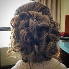 #beautiful #bridalupdo #curls #hairstyle by our Mabree! #weddingday #weddinghair #weddingupdo #looseupdo #2016bride #bridal #hair #hairstyles #Regram via @mghairandmakeup