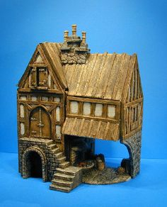 miniature medieval buildings