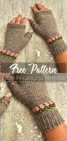 Tulip Fingerless Mittens – Pattern Free – Easy CrochetYou can find Fingerless mittens and more on our website. Crochet Fingerless Gloves Free Pattern, Fingerless Gloves Knitted, Crochet Crafts, Easy Crochet, Crochet Doilies, Free Crochet, Crochet Wrist Warmers, Crochet Accessories, Crochet Patterns