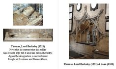 Thomas, Lord Berkeley (c1251 - 1321)  and his wife Joan de Ferrers (1247 - 1309) Bristol Cathedral