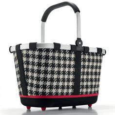 Carrybag 2 Einkaufskorb fifties black - reisenthel #black #white #shopper #bag #shopping