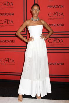 Joan Smalls in a Givenchy by Riccardo Tisci pre-spring/summer 2014 dress | The 2013 CFDA Awards