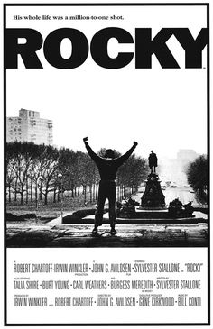 An absolute classic poster from the 1976 boxing movie about an underdog that went on to win 3 Oscars including best picture. The series went on to have 5 more sequels.