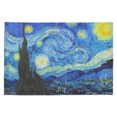 SOLD! - #Starry #Night #Vincent Van #Gogh #painting Hand #Towel #kitchen #postimpressionism #painting #art #gift #house