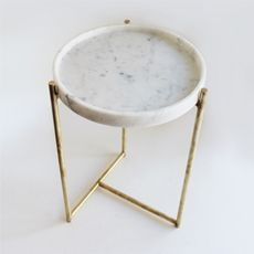 Oliver Marble Tray Table Brass