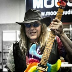 Kurt James monster player with a great taste in guitars ... NAMM 2015