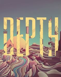 """Depth"" #Lettering and #Illustration by Cristian Eres"