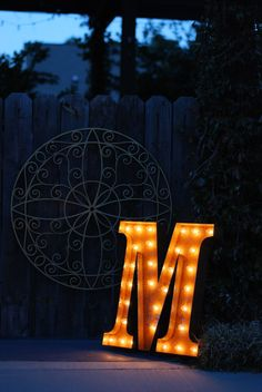 Vintage Industrial Metal Marquee Lights - Ready to Ship - Letter M