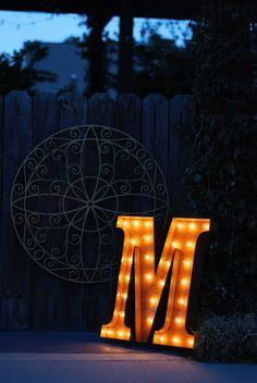 Vintage Industrial Metal Marquee Lights  by VintageMarqueeLights, $229.00