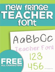 4 free fonts for teachers - KindergartenWorks