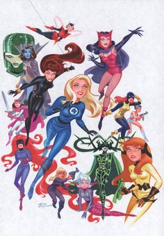 i <3 Bruce Timm!!! :B Women of Marvel (by Bruce Timm)