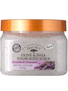 Tree Hut Olive & Shea Sugar Body Scrub in Lavender & Chamomile