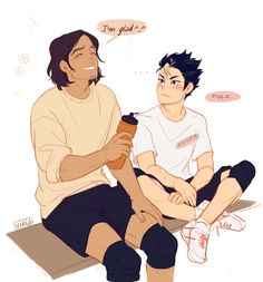 Realizing you have big gay crush on your ace likeIt's not the hair, Noya…it's not..the hair…