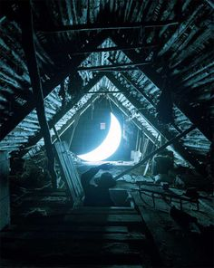 When The Moon Hits Your Eye You'll Love This Beautiful Moon Artwork