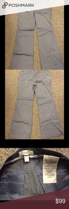 BURBERRY Women Gray Cotton Casual Wide Leg Pant BURBERRY Women Gray Cotton Casual Wide Leg Pant Slack Trouser Sz 6 USA waist 32 inseam 28.5 length 37 Burberry Pants Wide Leg