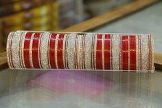 Punjabi Bridal Bangles in Maroon Color with 6 Big Bangles (Jarkan wala Chura) Price:4,200INR