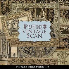 Freebies Vintage Engravings Kit
