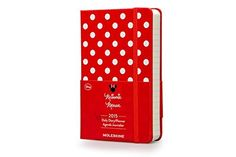By Moleskine Moleskine 2015 Minnie Mouse Limited Edition Daily Planner 12 Month Pocket Red Hard Cover (3.5 x (Limited)