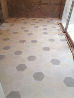 Process: baldosas (mosaicos) in creams & grays in the kitchen. Coco, Tile Floor, Modern, Kitchen, Design, Home Decor, Houses, Tiles, Oaxaca