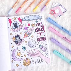 space doodles for bullet journal space doodles for bullet journa. space doodles for Bullet Journal Inspo, Bullet Journal 2019, Bullet Journal Aesthetic, Bullet Journal Ideas Pages, Drawing Journal, Doodle Art Journals, Notebook Doodles, Notebook Art, Space Drawings