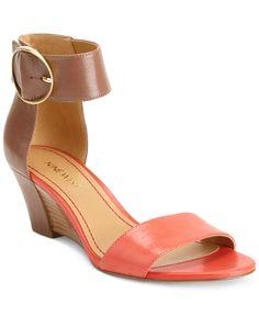 Nine West Ventana Ankle Strap Demi Wedge Sandals - Shoes - Macy's