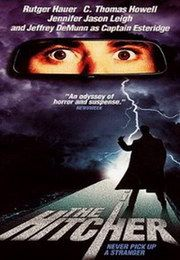 The Hitcher - Horror Movies Sci Fi Horror Movies, Classic Horror Movies, Scary Movies, Great Movies, 80s Movies, Famous Movies, Horror Movie Posters, Movie Poster Art, Film Movie
