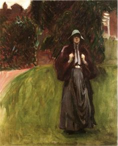Clementina Austruther Thompson sketch | John Singer Sargent | oil painting #OilPaintingPeople