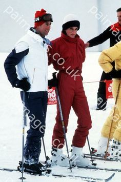 January 9, 1984: Prince Charles & Princess Diana on a skiing holiday in Malbun, Liechtenstein.