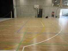 Il nuovo parquet sportivo del Sant'Andrea di Bressanone è dotato di impianto di riscaldamento #radiante