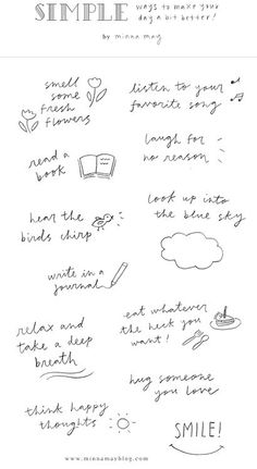 Simple Ways to Make Your Day a Bit Better by Minna May via designlovely.tumblr.com
