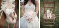 Emplume's Juliet bouquet at KY Derby Inspiration Shoot by Blue Quail Events and Spottswood Photography