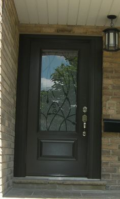 Week 14 preparing for hardwoods black front doors for Exterior doors with screen insert