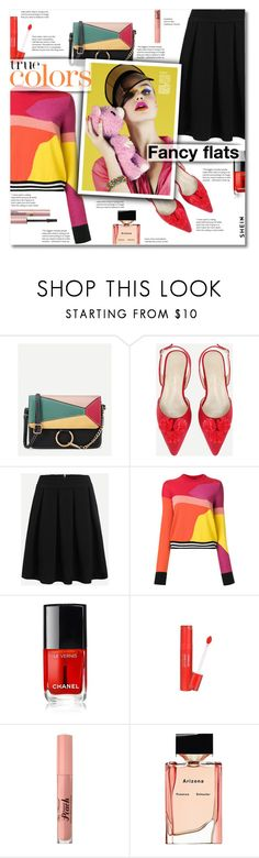 """Magic Slippers: Fancy Flats"" by smajlovicelvira ❤ liked on Polyvore featuring PS Paul Smith, Chanel, Too Faced Cosmetics, Proenza Schouler, L'Oréal Paris and chicflats"