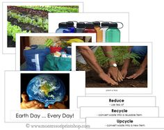Earth Day ... Every Day! Free Printable Montessori Material from Montessori Print Shop