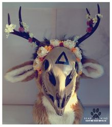 Deer skull fursuit head turn around — Weasyl