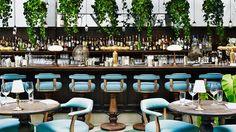 cool bar interiors foliage - Google Search