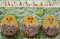 Chick-a-tea sandwiches for easter! - Mytaste.com