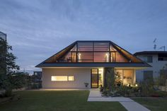 Naoi Architecture Modern House with Hipped Glass Roof in Japan