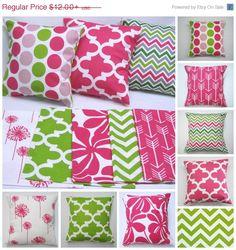 SALE Pillow Cover, Pillow, Hot Pink Pillows, Decorative Throw Pillows, Throw Pillows, Floral Pillows, Arrows, Beach Decor, Teen Bedroom