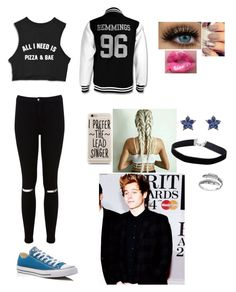 """""""Luke Hemming ❤️"""" by unicornchaby ❤ liked on Polyvore featuring Miss Selfridge, Converse, Primrose and Laura Lee"""