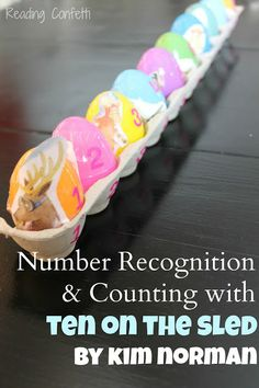 Number recognition and counting activity for Ten on the Sled